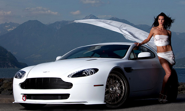 2009 Aston Martin Vantage Hellvelyn Frost Exotic Car