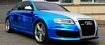 Audi RS6 Blue Chrom