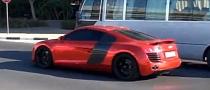 Chrome Red Audi R8