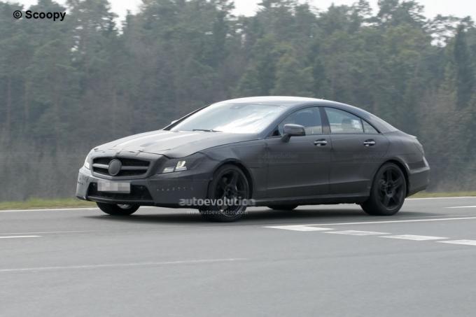 Mercedes Cls 2011 Amg. Spyshots: 2011 Mercedes CLS 63