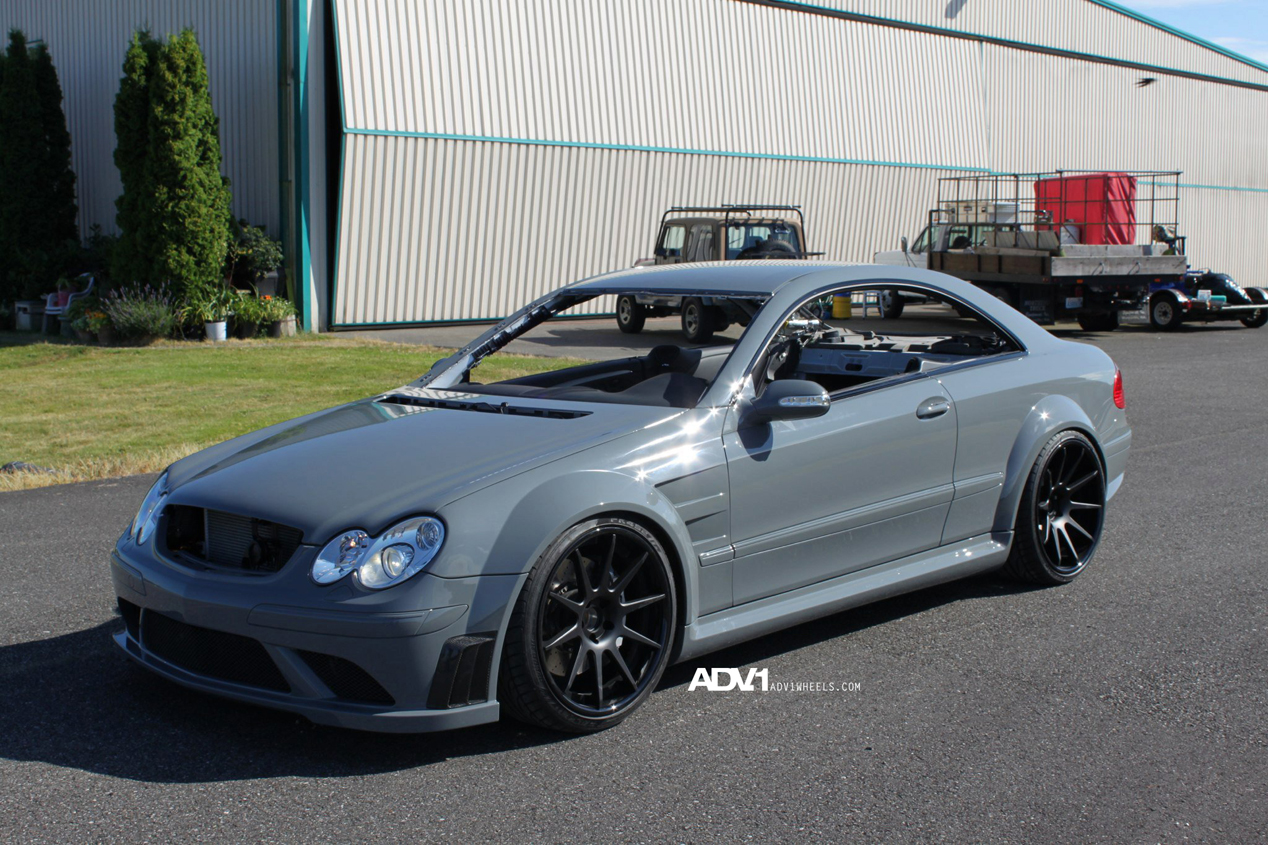 Tuned Mercedes CLK63 AMG Black