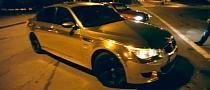 Gold BMW M5