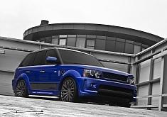 Imperial Blue Kahn Cosworth Range Rover