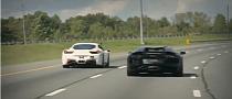 Lamborghini Aventador vs Twin-Turbo Ferrari 458 Italia