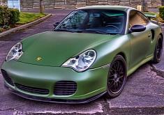 Porsche 911 Matte Army Green