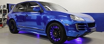 Porsche Cayenne Blue Chrome