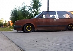 Rusty VW Golf