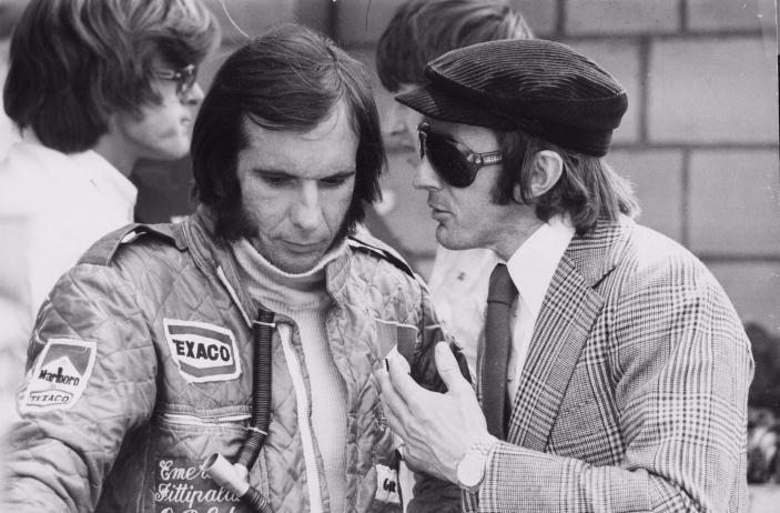 James Hunt in Jackie Stewart