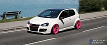 Volkswagen Golf Mk 5 GTI on Pink Concave Wheels